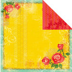 Prima - Paradise City Collection - 12 x 12 Double Sided Paper - Sunset Bonfire