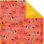 Prima - Animal Bash Collection - 12 x 12 Double Sided Paper - Birdy Gossip