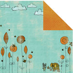 Prima - Animal Bash Collection - 12 x 12 Double Sided Paper - Eager