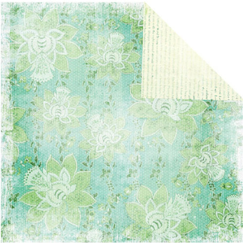 Prima - Tropics Collection - 12 x 12 Double Sided Paper - Celery Splash