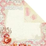 Prima - Shabby Chic Collection - 12 x 12 Double Sided Paper - My Lovely, BRAND NEW