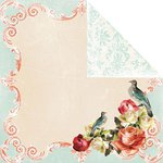 Prima - Shabby Chic Collection - 12 x 12 Double Sided Paper - Grape Twilight