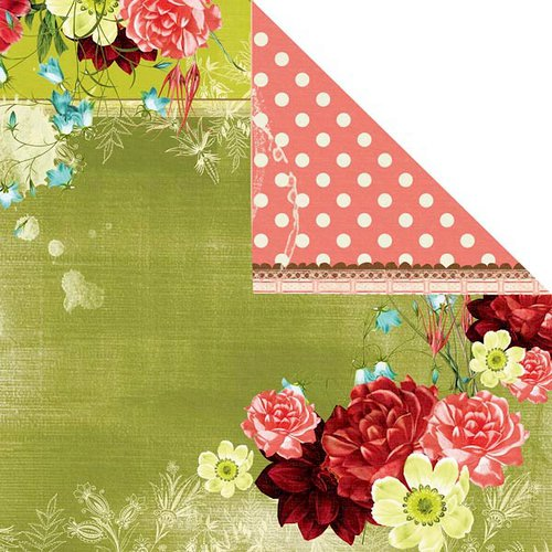 Prima - Strawberry Kisses Collection - 12 x 12 Double Sided Paper - Daydream
