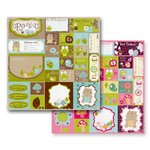 Prima - So Cute Collection - 12 x 12 Double Sided Paper - Growing