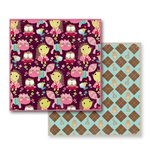 Prima - So Cute Collection - 12 x 12 Double Sided Paper - Argyle