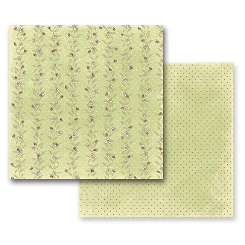 Prima - Jack and Jill Collection - 12 x 12 Double Sided Paper - Sunny Meadow