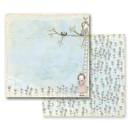 Prima - Jack and Jill Collection - 12 x 12 Double Sided Paper - Daydreamer