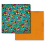 Prima - Paisley Road Collection - 12 x 12 Double Sided Paper - Panaji, CLEARANCE