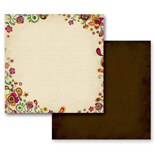 Prima - Paisley Road Collection - 12 x 12 Double Sided Paper - Assam