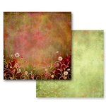 Prima - Fairy Flora Collection - 12 x 12 Double Sided Paper - Pixie Garden