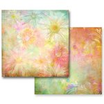 Prima - Fairy Flora Collection - 12 x 12 Double Sided Paper - Sunlight Daisies