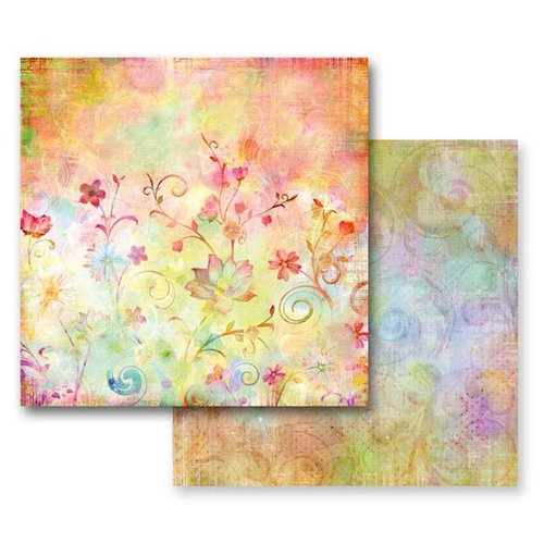 Prima - Fairy Flora Collection - 12 x 12 Double Sided Paper - Garden Party, CLEARANCE