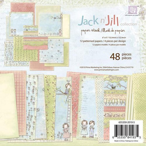 Prima - Jack and Jill Collection - 6 x 6 Paper Pad