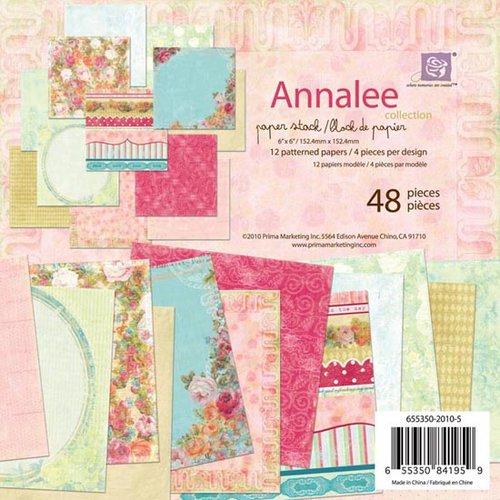 Prima - Annalee Collection - 6 x 6 Paper Pad