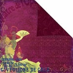 Prima - Moulin Rouge Collection - 12 x 12 Double Sided Paper - Cabaret