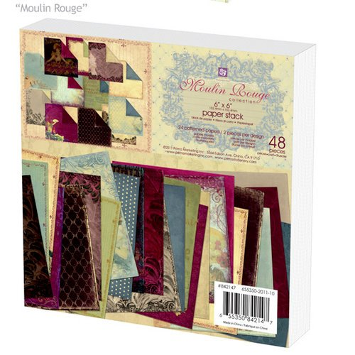 Prima - Moulin Rouge Collection - 6 x 6 Paper Pad