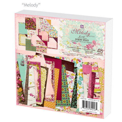 Prima - Melody Collection - 6 x 6 Paper Pad