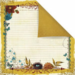 Prima - Reflections Collection - 12 x 12 Double Sided Paper - Meadowlark