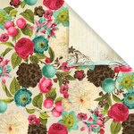 Prima - Madeline Collection - 12 x 12 Double Sided Paper - Rosalee