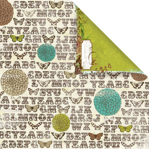 Prima - Madeline Collection - 12 x 12 Double Sided Paper - Parterre