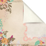 Prima - Melody Collection - 12 x 12 Double Sided Paper - Songbird