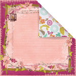 Prima - Melody Collection - 12 x 12 Double Sided Paper - Troubador