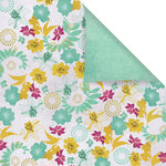 Prima - Melody Collection - 12 x 12 Double Sided Paper - Golden Rod