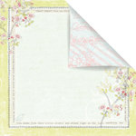Prima - Sparkling Spring Collection - 12 x 12 Double Sided Paper - Bon Jour