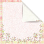 Prima - Sparkling Spring Collection - 12 x 12 Double Sided Paper - Meme