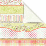 Prima - Sparkling Spring Collection - 12 x 12 Double Sided Paper - Frou Frou