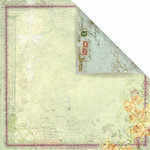 Prima - Botanical Collection - 12 x 12 Double Sided Paper - My Darling, BRAND NEW