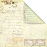 Prima - Botanical Collection - 12 x 12 Double Sided Paper - True Words, BRAND NEW