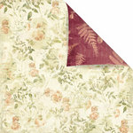 Prima - Botanical Collection - 12 x 12 Double Sided Paper - Adore, CLEARANCE