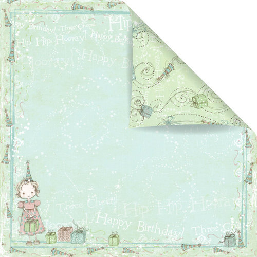 Prima - Celebrate Jack and Jill Collection - 12 x 12 Double Sided Paper - Happy Birthday Jill