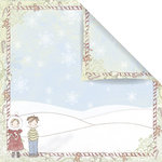 Prima - Celebrate Jack and Jill Collection - 12 x 12 Double Sided Paper - Season Greetings