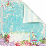 Prima - Sweet Fairy Collection - 12 x 12 Double Sided Paper - Fresh Breeze