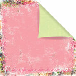 Prima - Sweet Fairy Collection - 12 x 12 Double Sided Paper - Pink Parfait