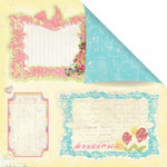 Prima - Sweet Fairy Collection - 12 x 12 Double Sided Paper - Fairy Notes