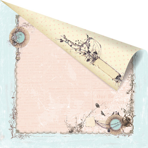 Prima - Pixie Glen Collection - 12 x 12 Double Sided Paper - Chip-a-Twit