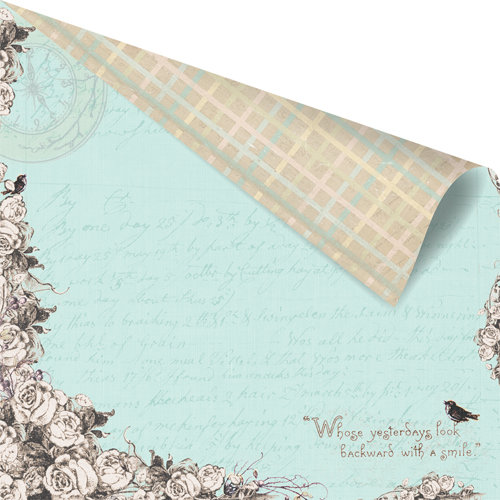 Prima - Pixie Glen Collection - 12 x 12 Double Sided Paper - Rose Arbor
