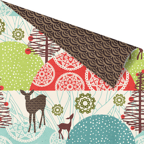 Prima - North Country Collection - Christmas - 12 x 12 Double Sided Paper - Wonderland