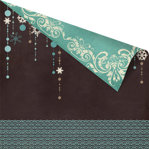 Prima - North Country Collection - Christmas - 12 x 12 Double Sided Paper - Icicles