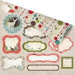 Prima - North Country Collection - Christmas - 12 x 12 Double Sided Paper - Forest Notes