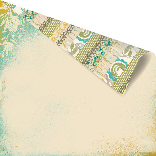 Prima - Alla Prima Collection - 12 x 12 Double Sided Paper - Motif