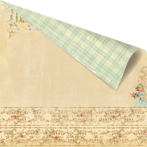 Prima - Romantique Collection - 12 x 12 Double Sided Paper - Crumpet