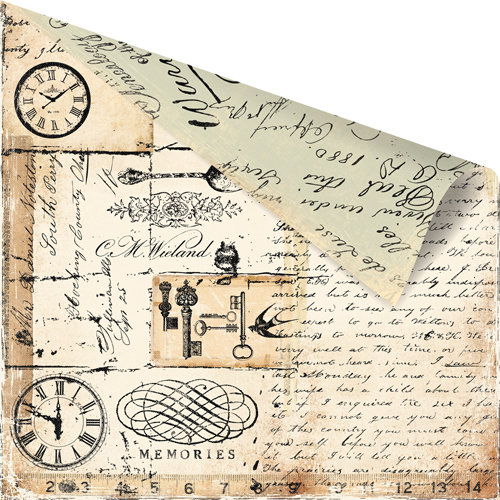 Prima - Printery Collection - 12 x 12 Double Sided Paper - Emperor