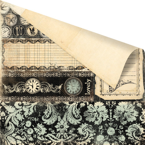 Prima - Printery Collection - 12 x 12 Double Sided Paper - Page Four