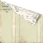 Prima - Printery Collection - 12 x 12 Double Sided Paper - Love Ledger