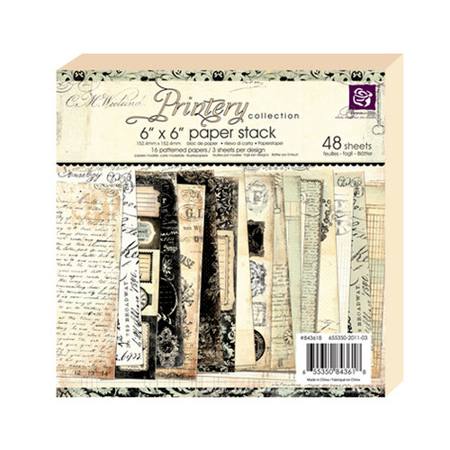 Prima - Printery Collection - 6 x 6 Paper Pad