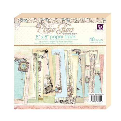 Prima - Pixie Glen Collection - 8 x 8 Paper Pad